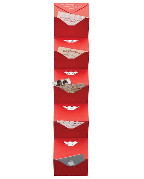 Vcard Gift Card Balance - valentine s day accordion envelope card martha stewart