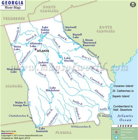 rivers map usa chattahoochee river map