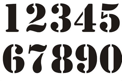 Numbers Template by 9 Number Stencils Free Sle Exle Format