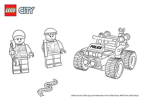 lego robber coloring pages 60065 atv patrol colouring page lego 174 city activities