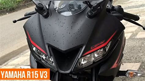 Yamaha All New R15 Matte Black yamaha r15 v3 version 3 matte black complete review