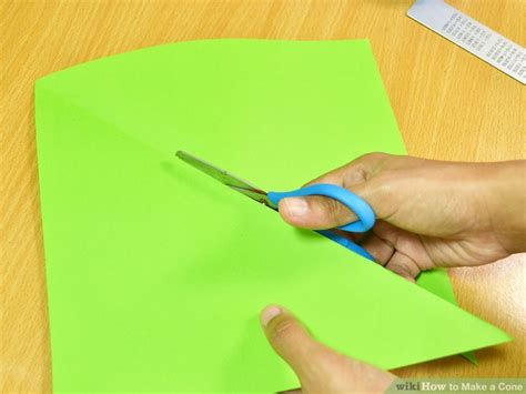 Make A Cone From Paper - 3 ways to make a cone wikihow