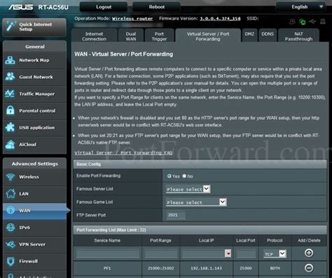 forwarding emule asus rt ac56u router forwarding