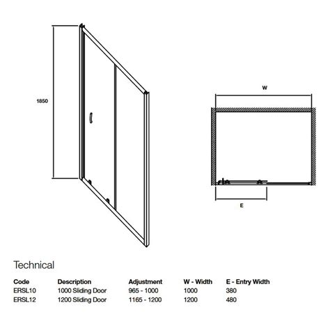 Shower Door Measurements Premier Ella Sliding Shower Door Sizes 1000 1200mm From