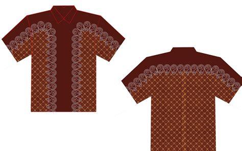 desain baju batik vektor contoh batik yang gang di gambar contoh o