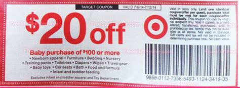 Walmart Furniture Coupons by Target Deals 20 100 Baby Products Coupon Spend Less Shop More