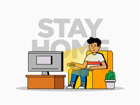 stay  home  tepi kuncoro  dribbble
