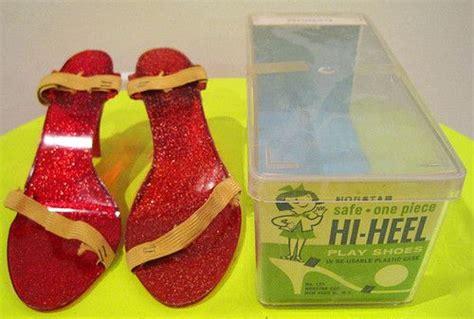 play dress up shoes vtg 50s bakelite plastic dress up play shoes high heel