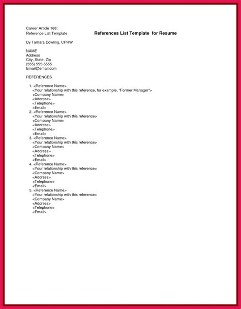 format for references on resume how to format a reference list sop exles