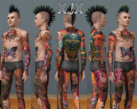 tattoo body suit mod the sims oldschool newschool suit