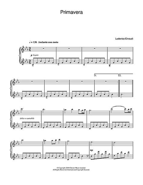 tutorial piano primavera primavera sheet music by ludovico einaudi piano 37653