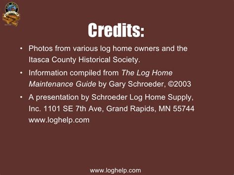 log home maintenance slides