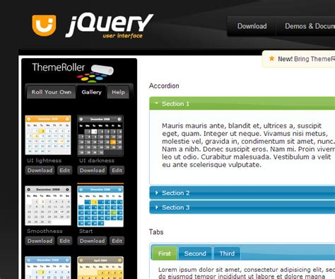 jquery themes gallery themeing and styling xmod pro with jquery ui