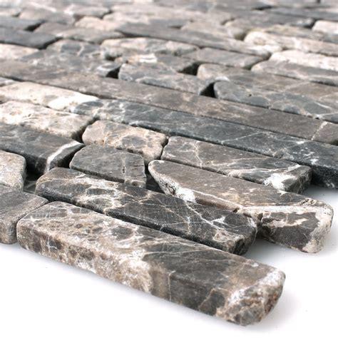 marmor naturstein mosaik fliesen impala geflammt tm33310