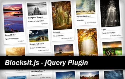 html layout manager jquery blocksit js dynamic grid layout jquery plugin