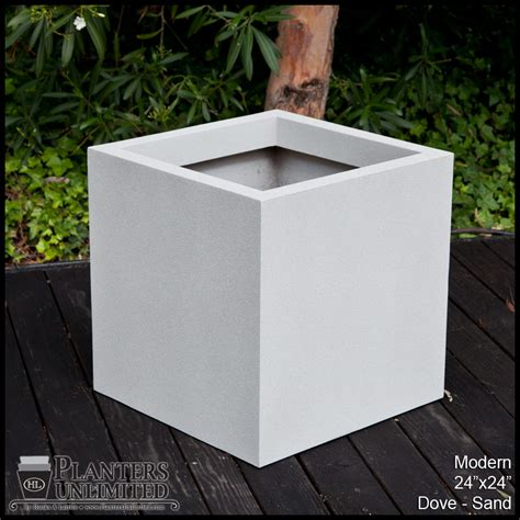 Modern Commercial Planters by 24 Quot Square Fiberglass Planter Custom Sizes