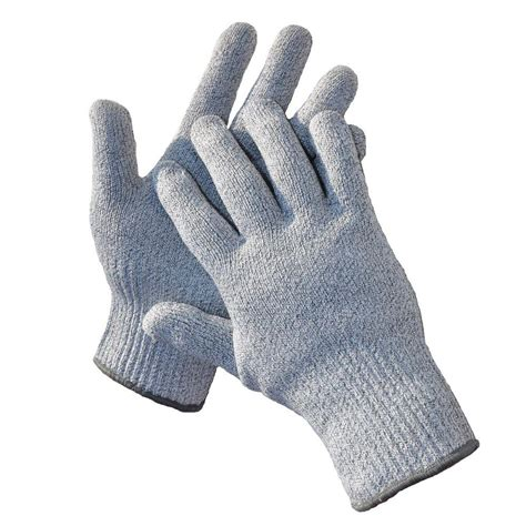 cut resistant gloves g f cutshield large grey classic cut and slash resistant gloves 57100l the home depot