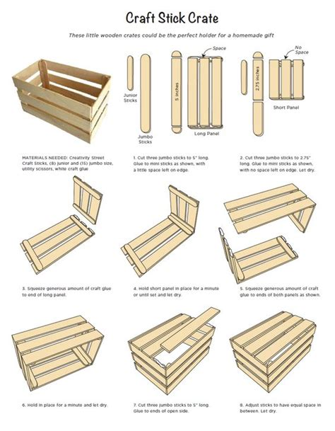 jumbo craft sticks projects craft stick crate tutorial made with a few jumbo and mini