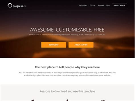 bootstrap templates for it company free download progressus free bootstrap business template