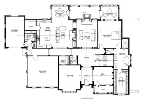 long house plans 19 unique large one story house plans home building