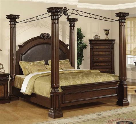 bedroom contemporary canopy bed bring the fantastic ambiance with wood cabinets contemporary