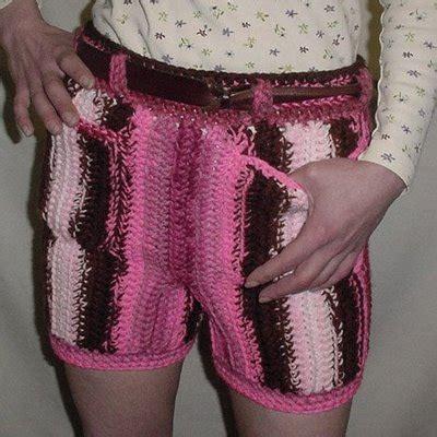 pattern crochet mens shorts men in crocheted pants crochet by darleen hopkins