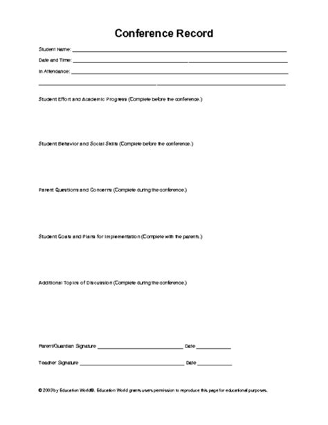 parent teacher conference agenda template 2 best agenda