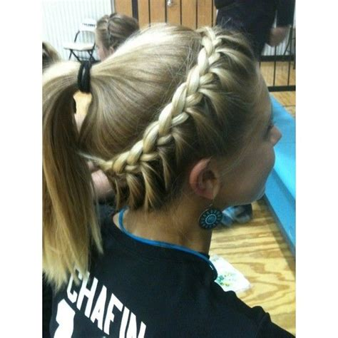 cute hairstyles for volleyball going to have to try this looks like a simple one sided