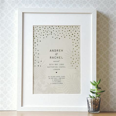Wedding Anniversary Ideas Brisbane by 50th Wedding Anniversary Gifts Ideas For Your Loved One