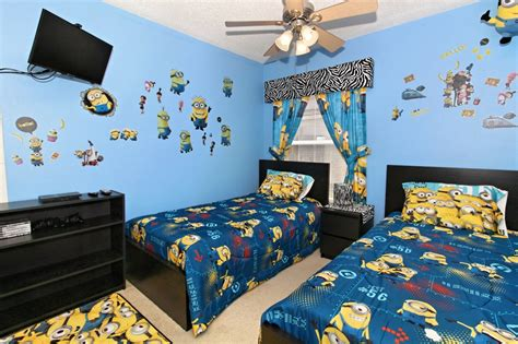 4 bed vacation pool home with minion themed kids room
