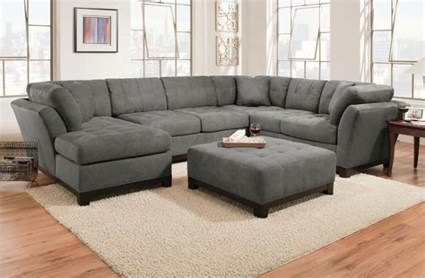 Corinthian Sectional by Corinthian Loxley Charcoal Left Side Facing Chaise