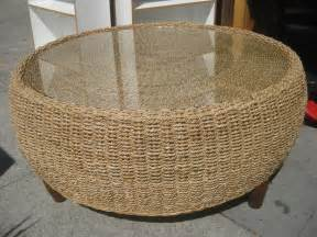 Wicker Coffee Tables Uhuru Furniture Collectibles Sold Wicker Drum Coffee Table 70