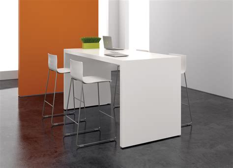 table standing premium white laminate standing table ambience dor 233