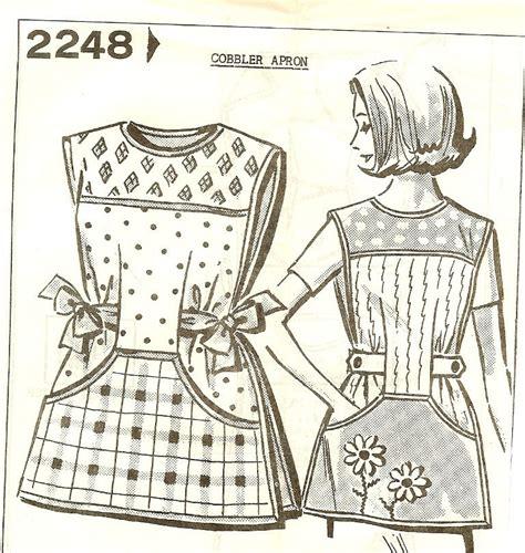 Pattern Cobbler Apron | vintage 1950s cobbler apron pattern mail order small medium