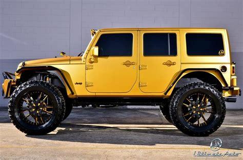 Gold Jeep Wrangler Ultimate Auto Matte Gold Jeep Wrangler Jeep