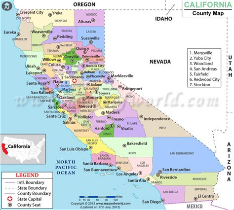 map of usa california map of counties in california world map 07