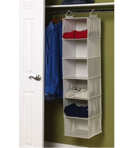 6 Shelf Closet Organizer 6 shelf hanging closet organizer in hanging closet shelves
