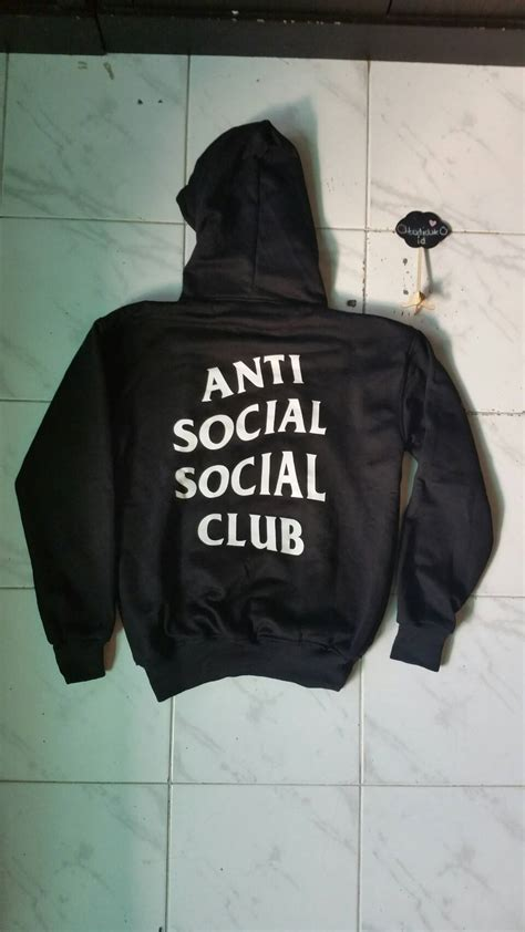 Hoodie Club Mu Bahan Fleece Tebal jual sweater hoodie anti social social club titanium