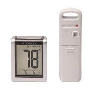acurite backyard weather thermometer acurite digital indoor outdoor thermometer 00380 00381
