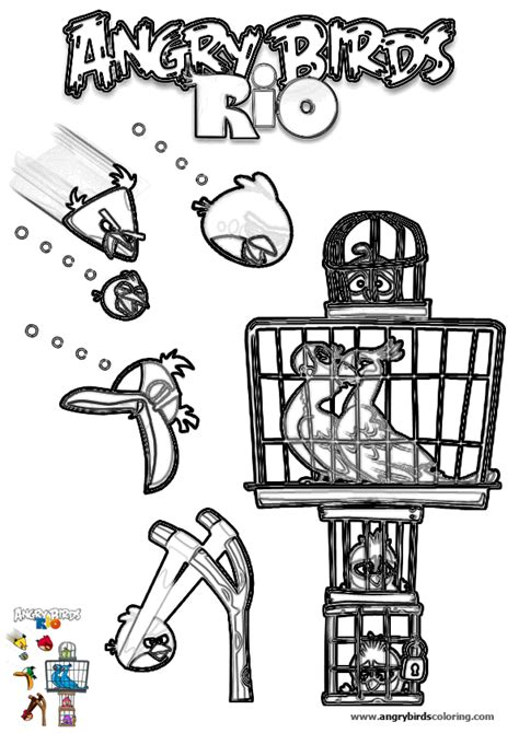 angry birds rio coloring pages angry birds rio for coloring 19