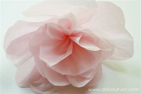 How To Make Large Tissue Paper Flower Balls - oversized tissue paper flowers diy tutorial