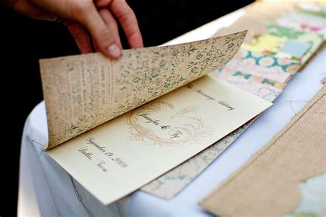 diy programs for weddings diy wedding programs from burlap and vintage patterned paper