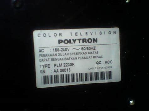 Tv Polytron Model Lama tips dan trik servis elektronik hamimservis