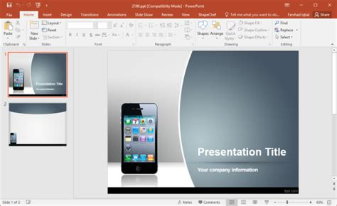 Free Smartphone Powerpoint Templates T Mobile Powerpoint Template