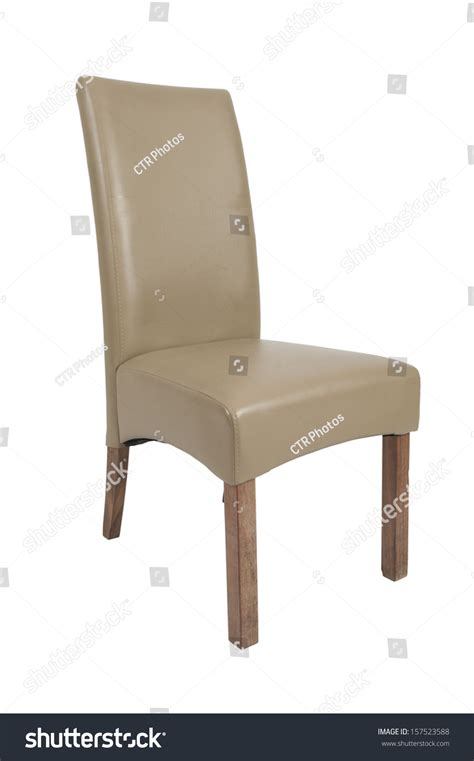 Single Dining Room Chairs A Single Beige Dining Room Chair On A White Background Stock Photo 157523588