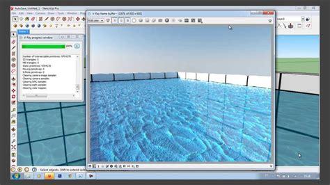 tutorial agua vray sketchup v ray rt 1 6 sketchup 2013 render 225 gua e piso youtube