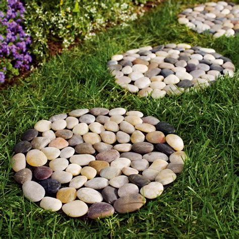 Decorative Stepping Stones Home Depot Bloombety Round Stepping Stones Plants With Flowers