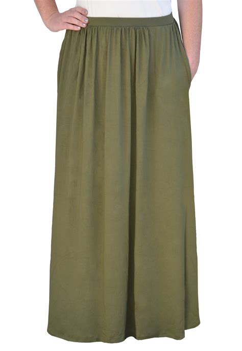 kosher casual s modest flowing skirt with pockets