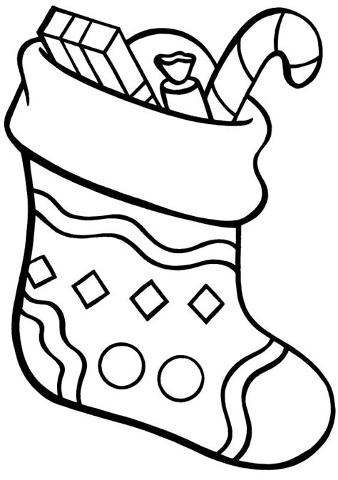 coloring page for christmas stocking free coloring pages of xmas stocking