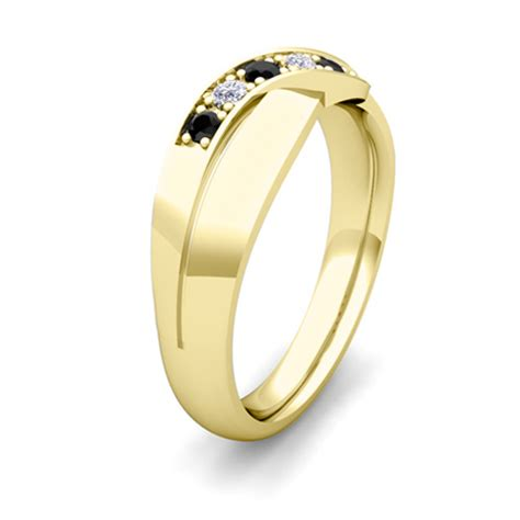 his and hers matching wedding bands 18k gold black